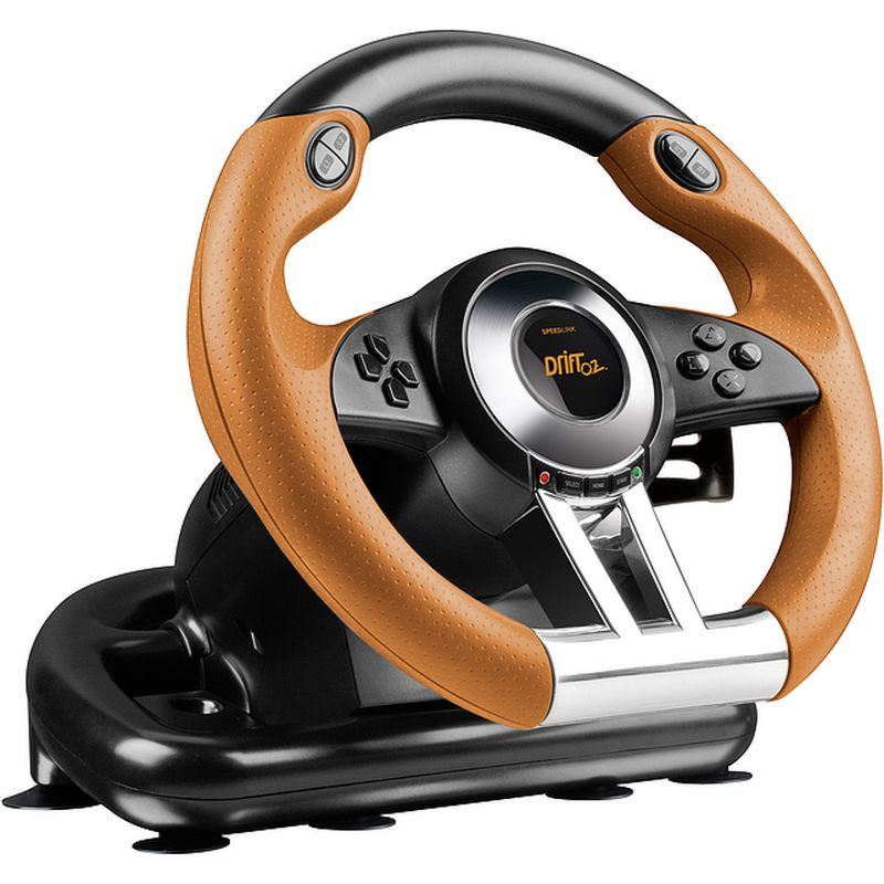 PS 3 Руль Speedlink Dift O.Z. Racing Wheel с педалями, функция вибрации (PS3/PC) (SL-4495-BKOR)