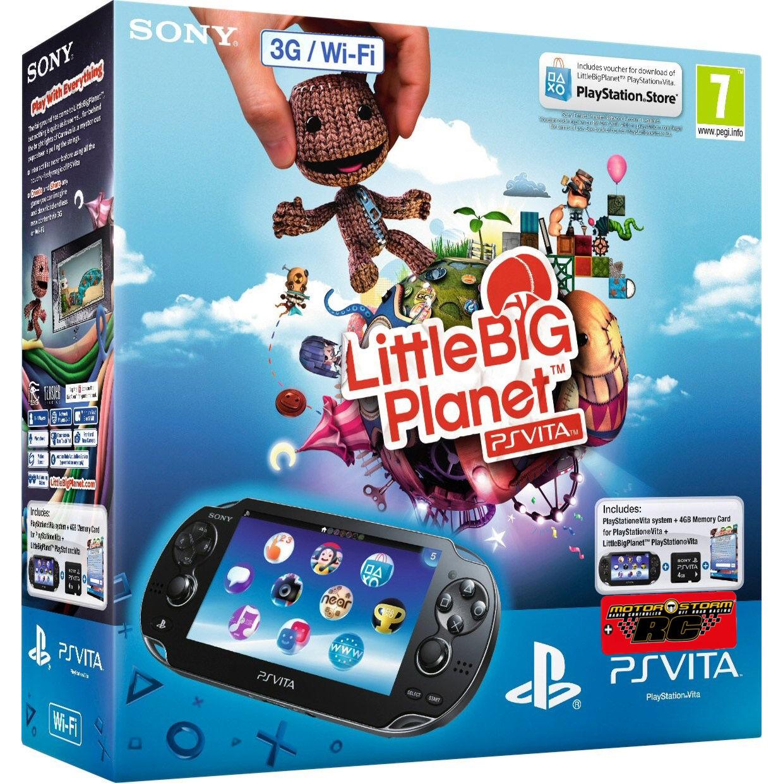 Playstation PS Vita 3G/Wi-Fi + 4GB memory card + код LittleBigPlanet+ код Motorstorm