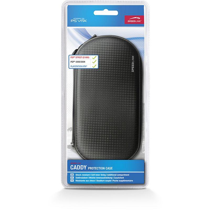 PS Vita Сумка SPEEDLINK CADDY Protection Case (PS Vita/PSP) (SL-4722-BK) карбон