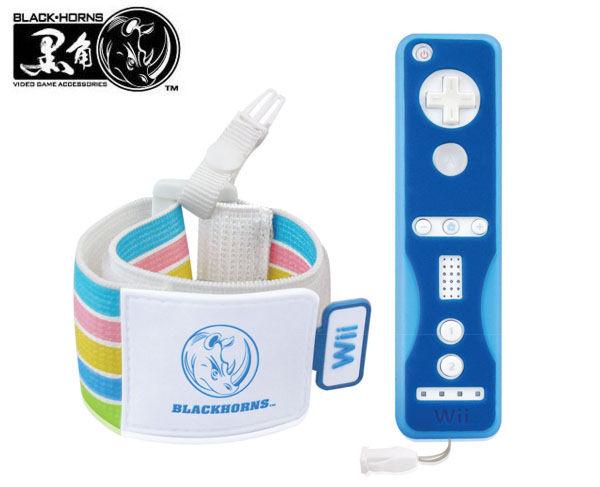 Wii BLACKHORNS цветные чехлы для джойстиков+ремешок Clourful Security Kit BH-Wii10202
