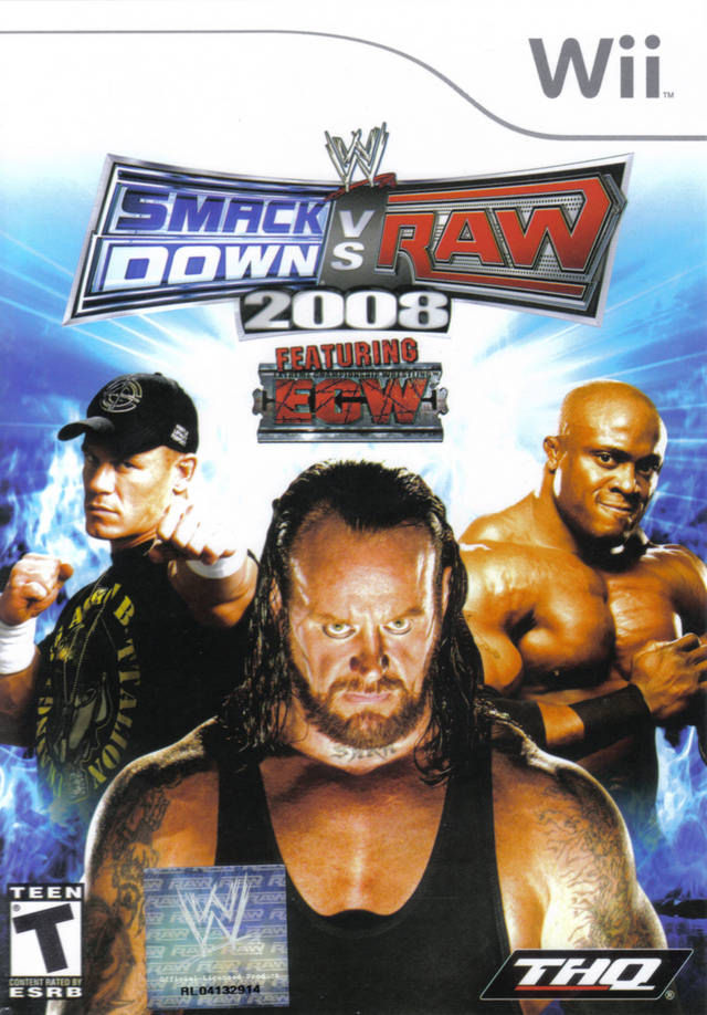 WWE Smackdown vs Raw 08  (русская инструкция) Wii