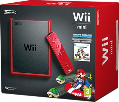 Nintendo Wii Mini Red + «Mario Kart One Shot» (NIC-2102736)