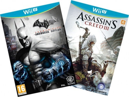 Комплект: Assassin's Creed 3 RUS [WiiU] + Batman: Arkham City Armoured Edition [WiiU, русскиесубтитр Wii U