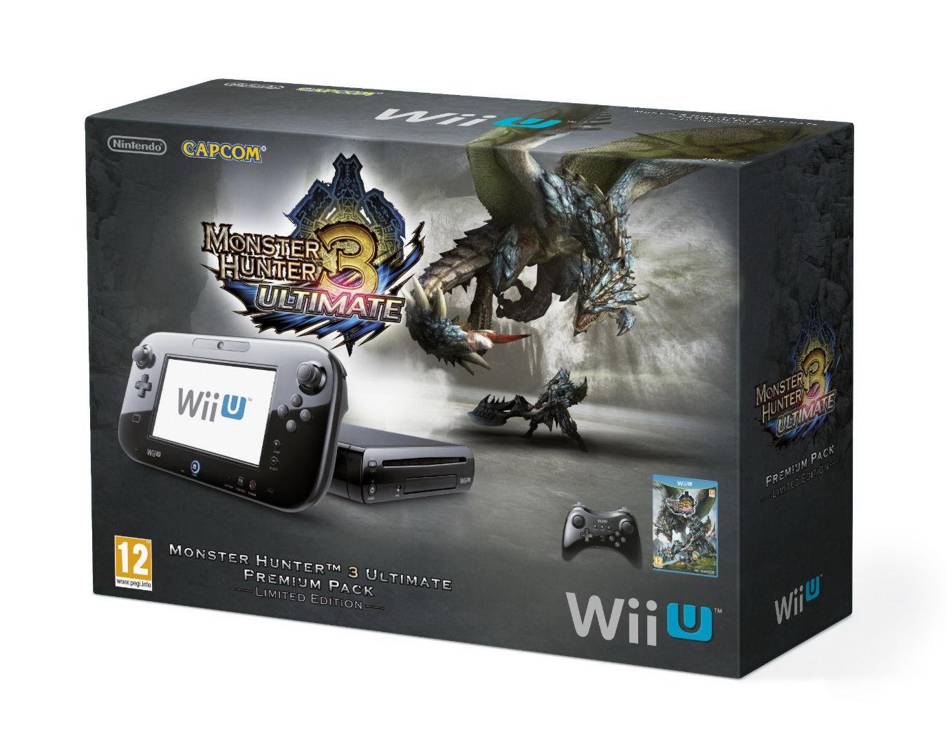 Nintendo Wii U Premium Pack + игра Monster Hunter 3 Ultimate (NIC-2300436)