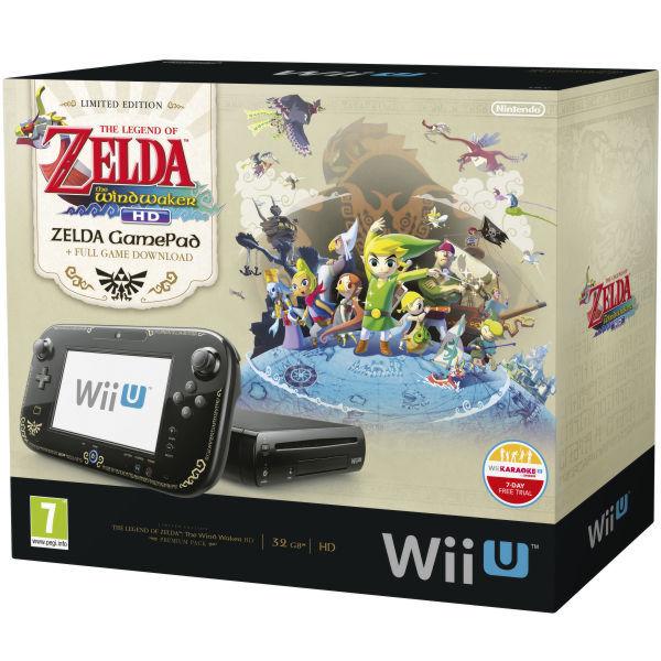 Nintendo Wii U Premium Pack + код Wii Karaoke U + игра The Legend of Zelda: Wind Waker (NIC-2300532)