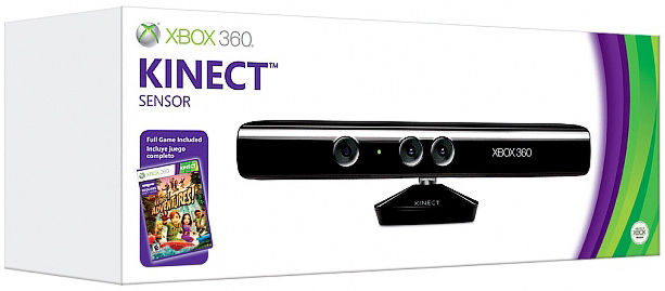 X-Box 360 Сенсор Kinect (LPF-00024) + игра Kinect Adventures+код скачивания Child of Eden в подарок!