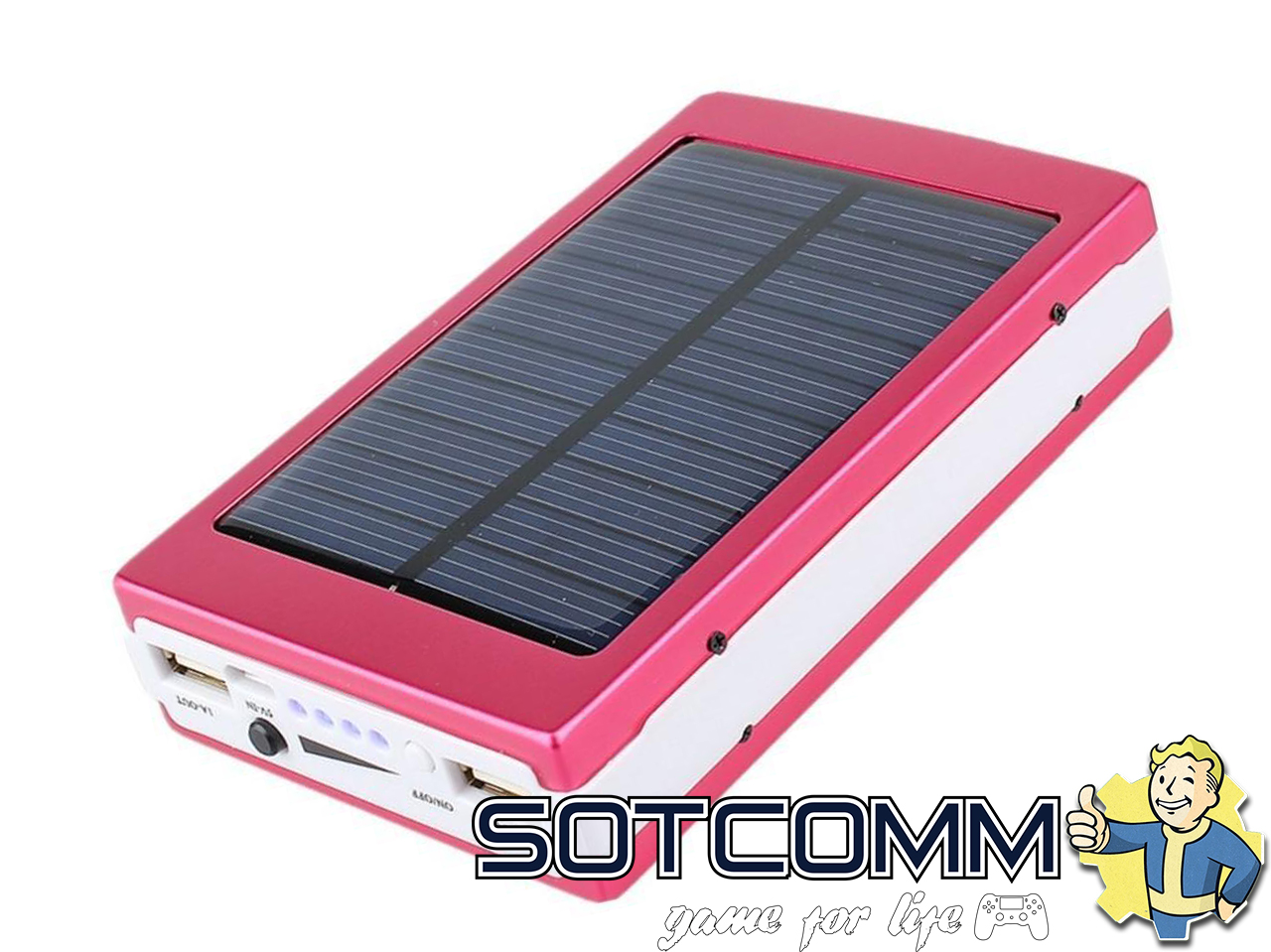 Power Bank 30000 mAh с солнечной батареей