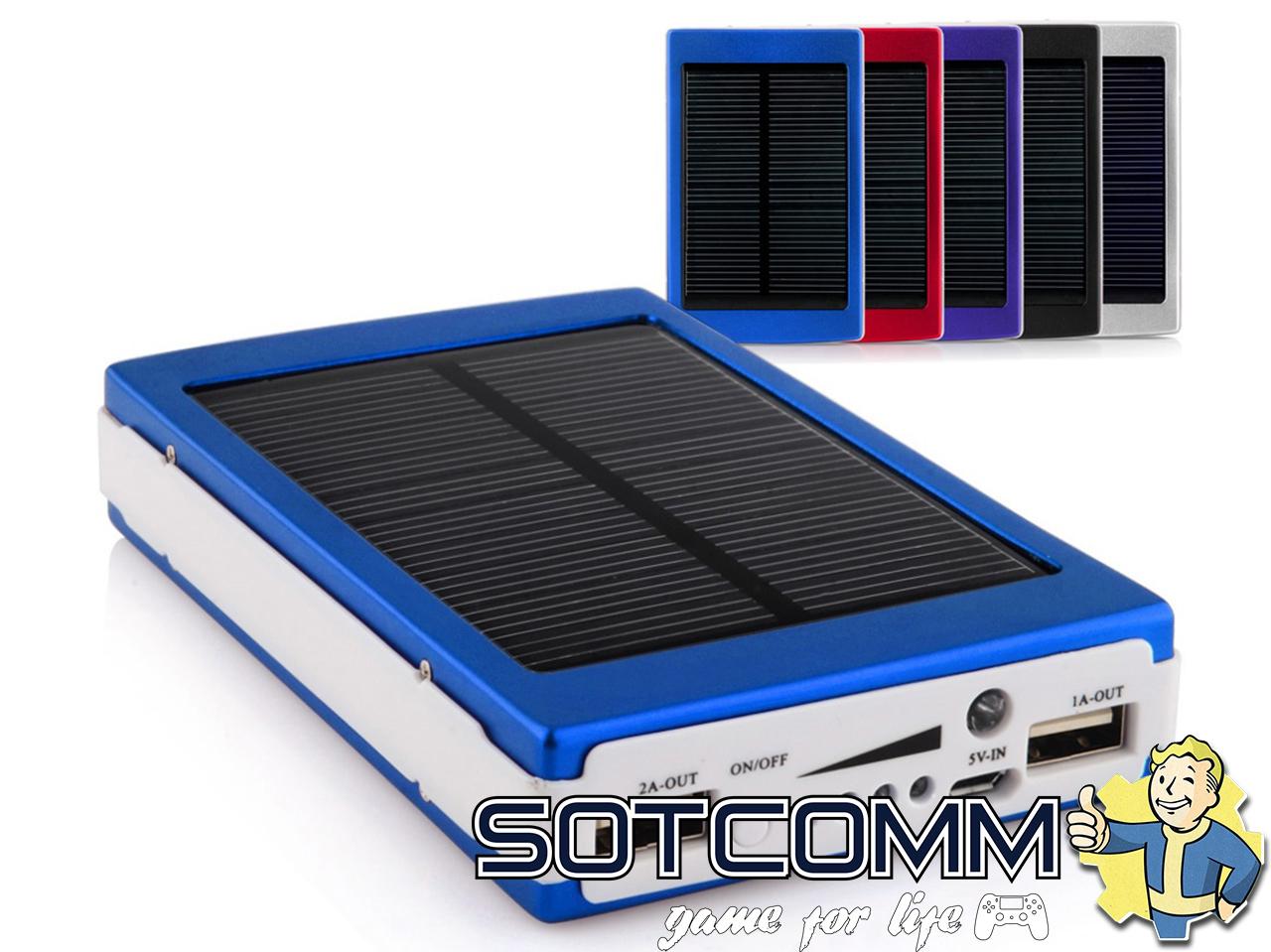 Внешний аккумулятор Power Bank с солнечной батареей 30000 mAh