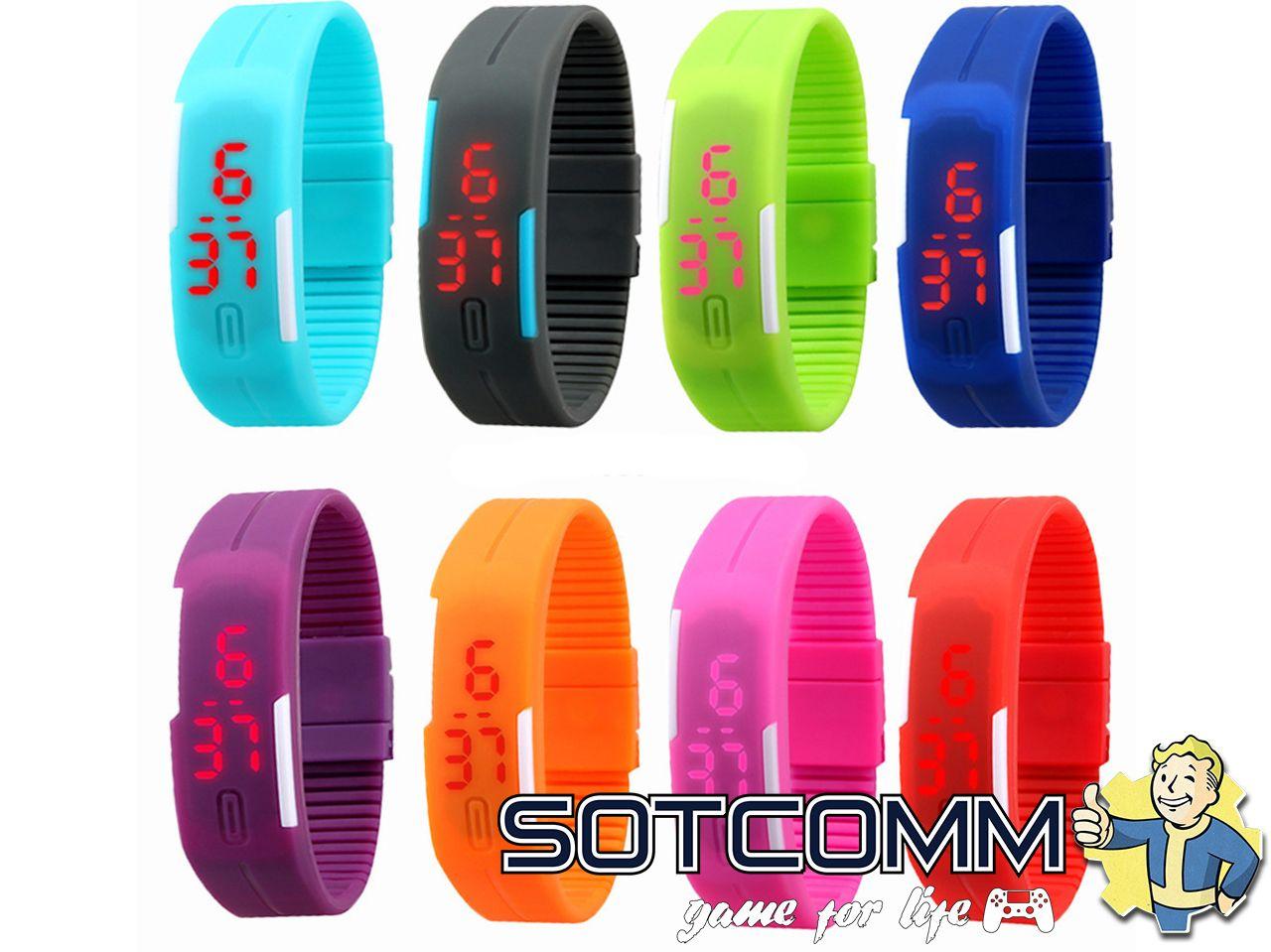 Спортивные силиконовые LED часы браслет купить в Челябинске