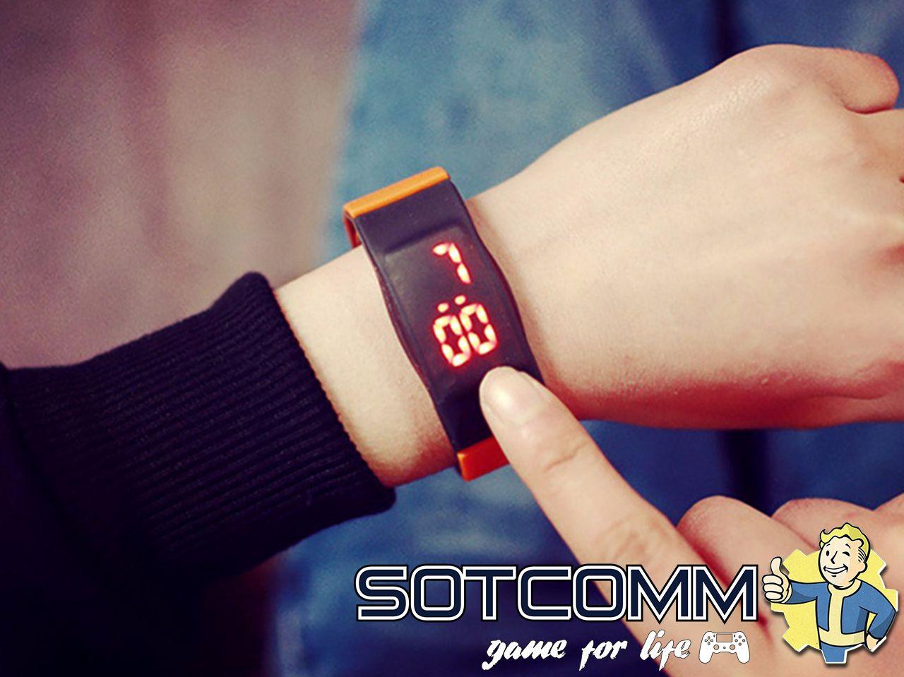 Спортивные силиконовые LED часы браслет цена