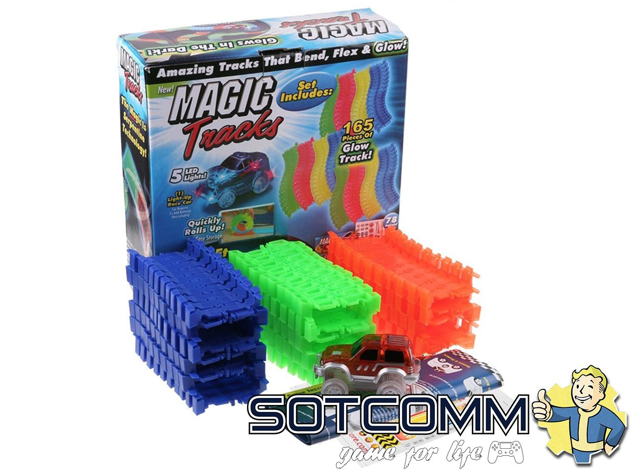 MAGIC TRACKS Мэджик трек 165 деталей комплектация