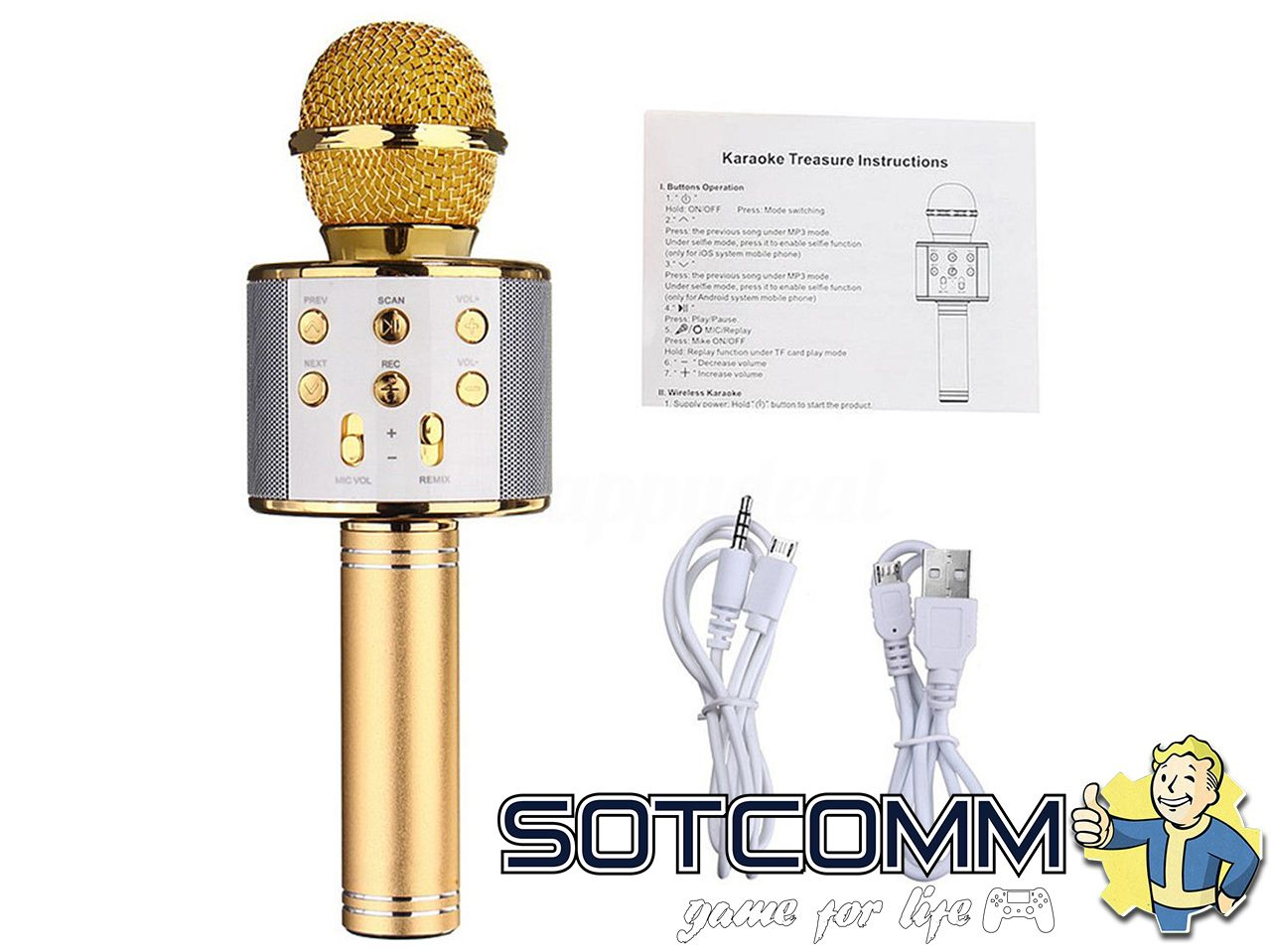 Микрофон с караоке WSTER WS-858