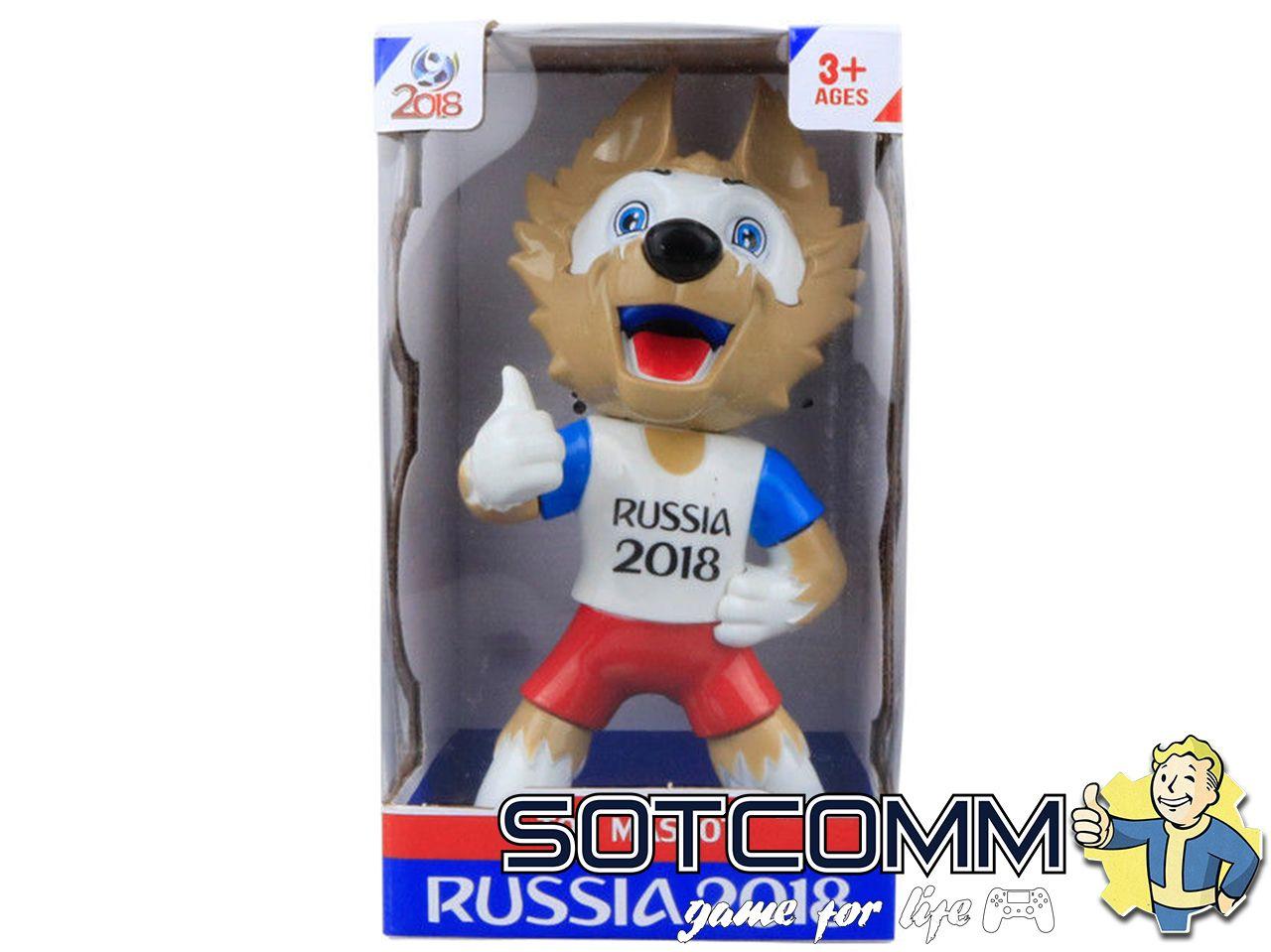 Волк Забивака с вувузелой 2018 FIFA World Cup Russia