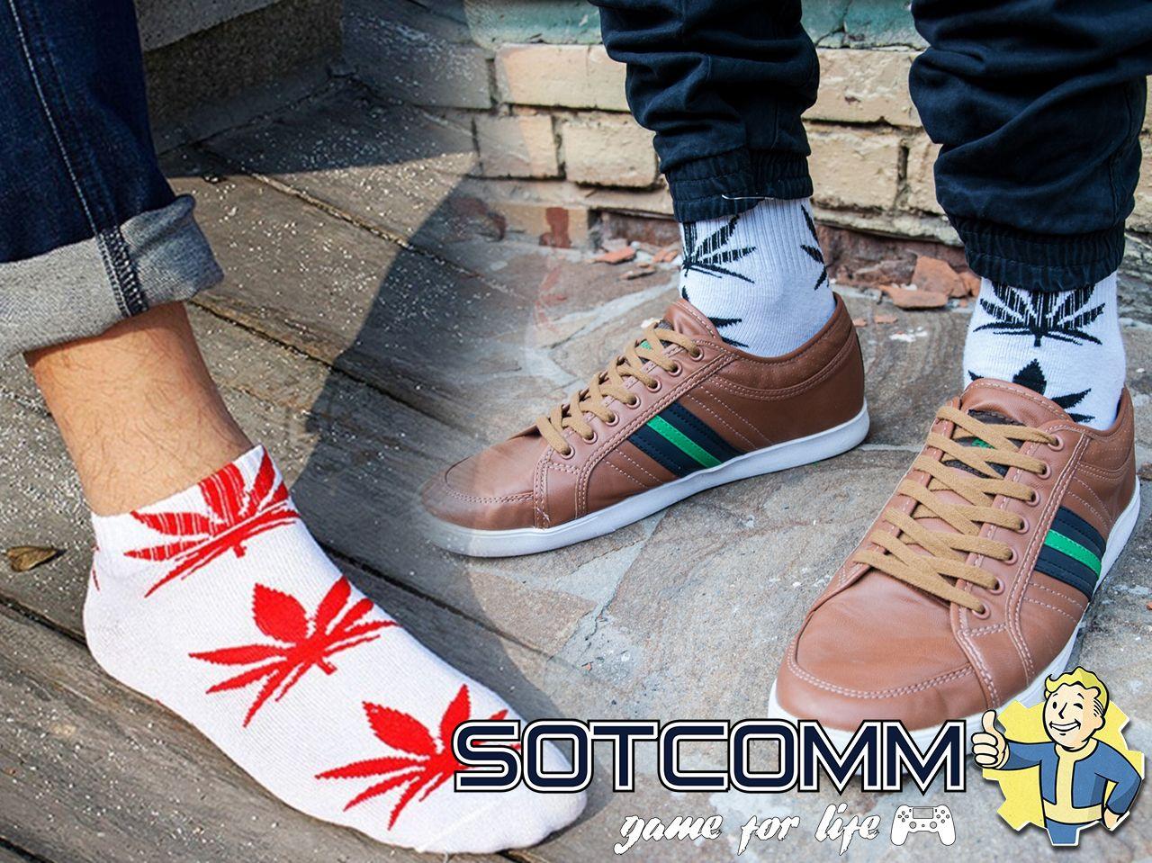 Носки с рисунком Марихуана HUF Cannabis Leaf