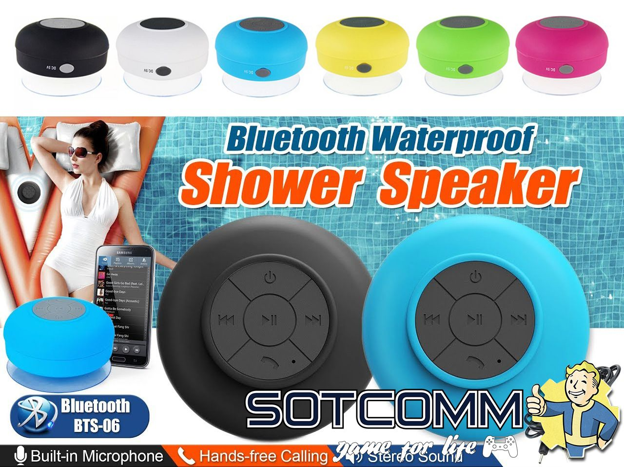 Bluetooth Shower Speaker BTS-06 купить в Челябинске