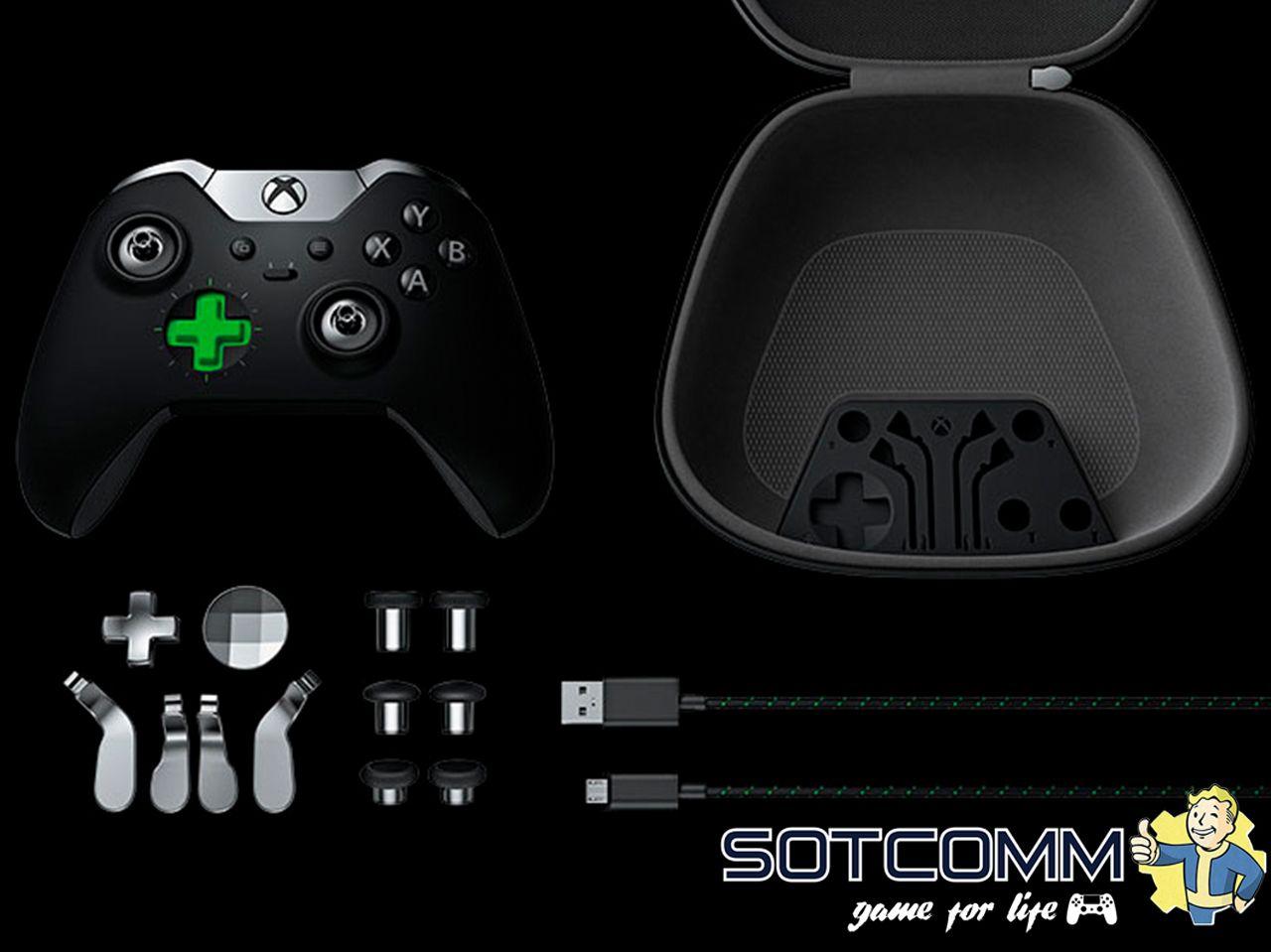 Беспроводной геймпад Xbox One Elite Controller комплектация