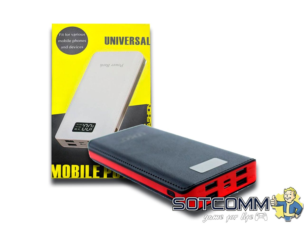 Universal Power Bank 30000mAh 4 USB