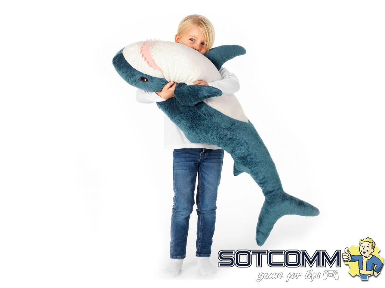 Плюшевая акула Блохэй из Икеи