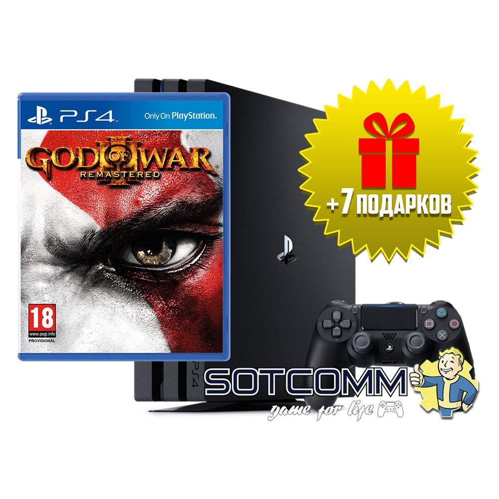 Playstation 4 Pro 1Tb + God of War 3 Remastered