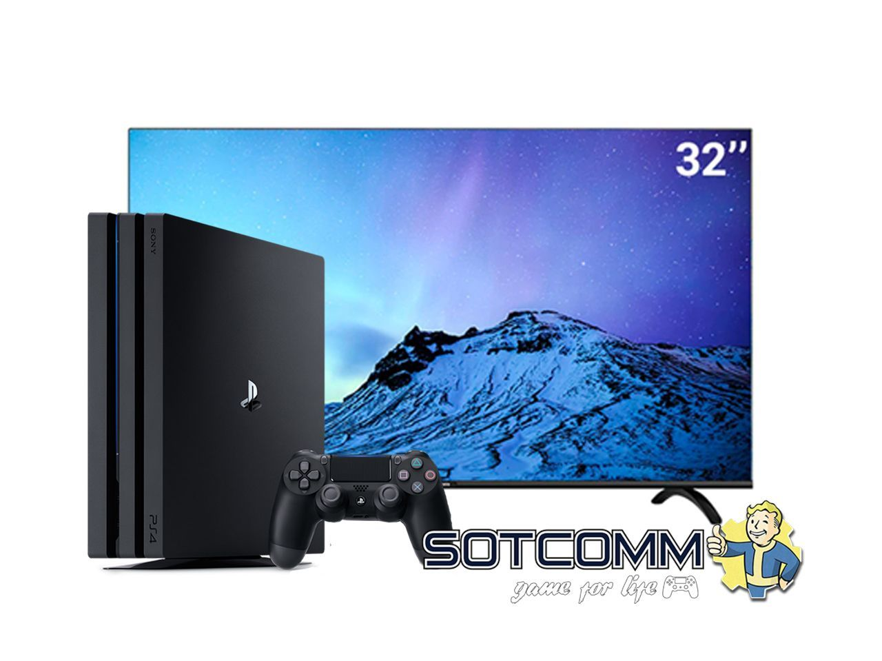 Игровой комплект PS4 Pro 1Tb + TV Skyworth 32E20 FULL HD