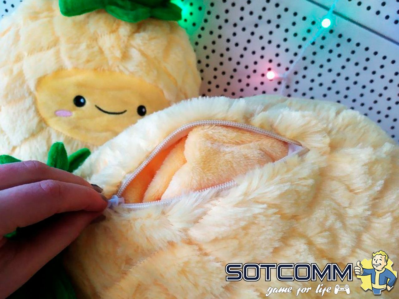 Ананас с пледом 3 в 1 игрушка-подушка-плед
