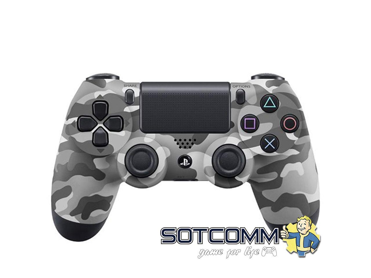 Геймпад для PS4 DS4 V2 Replica (Серый камуфляж)