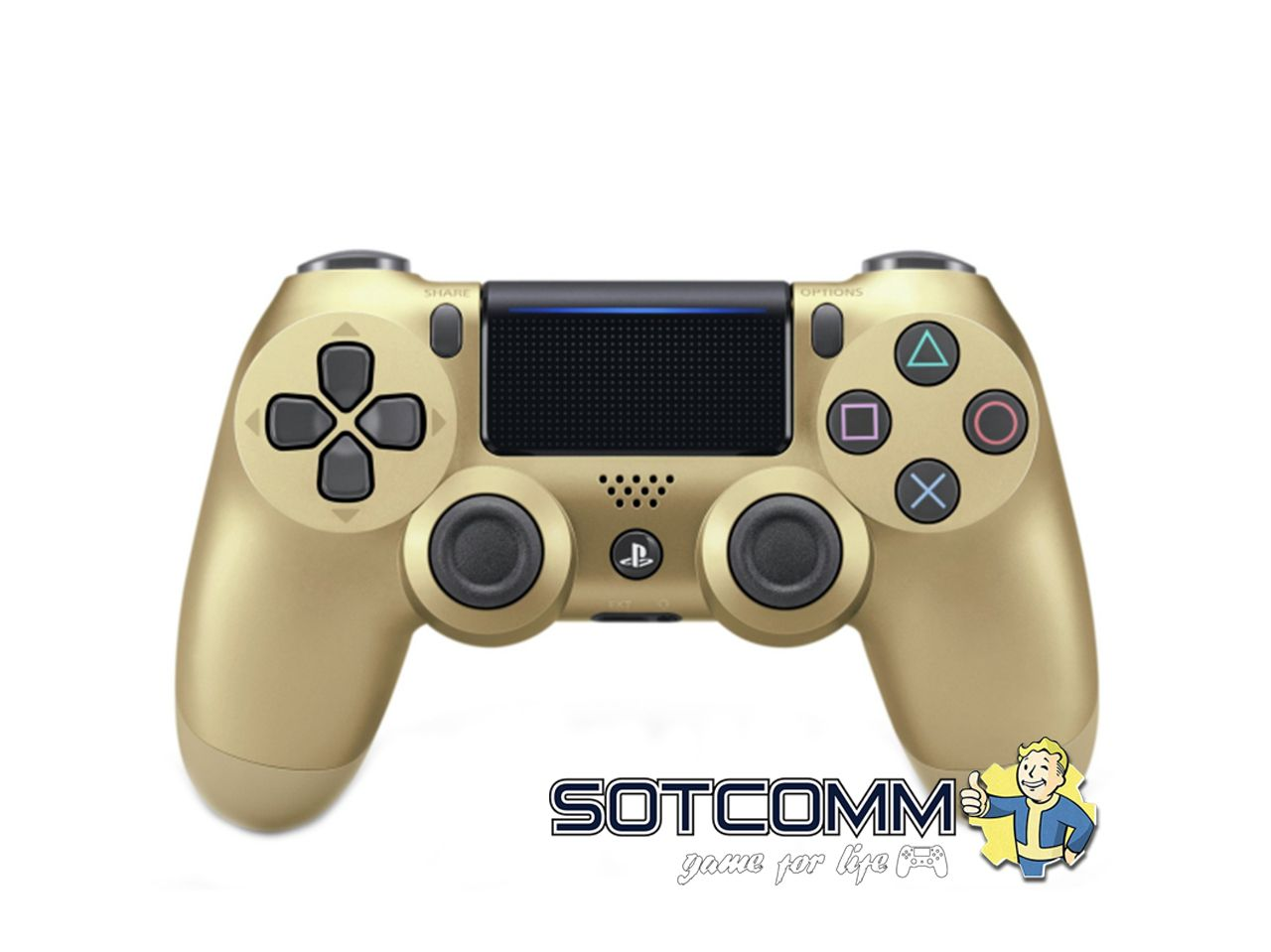 Геймпад для PS4 DS4 V2 Replica (Золотой)