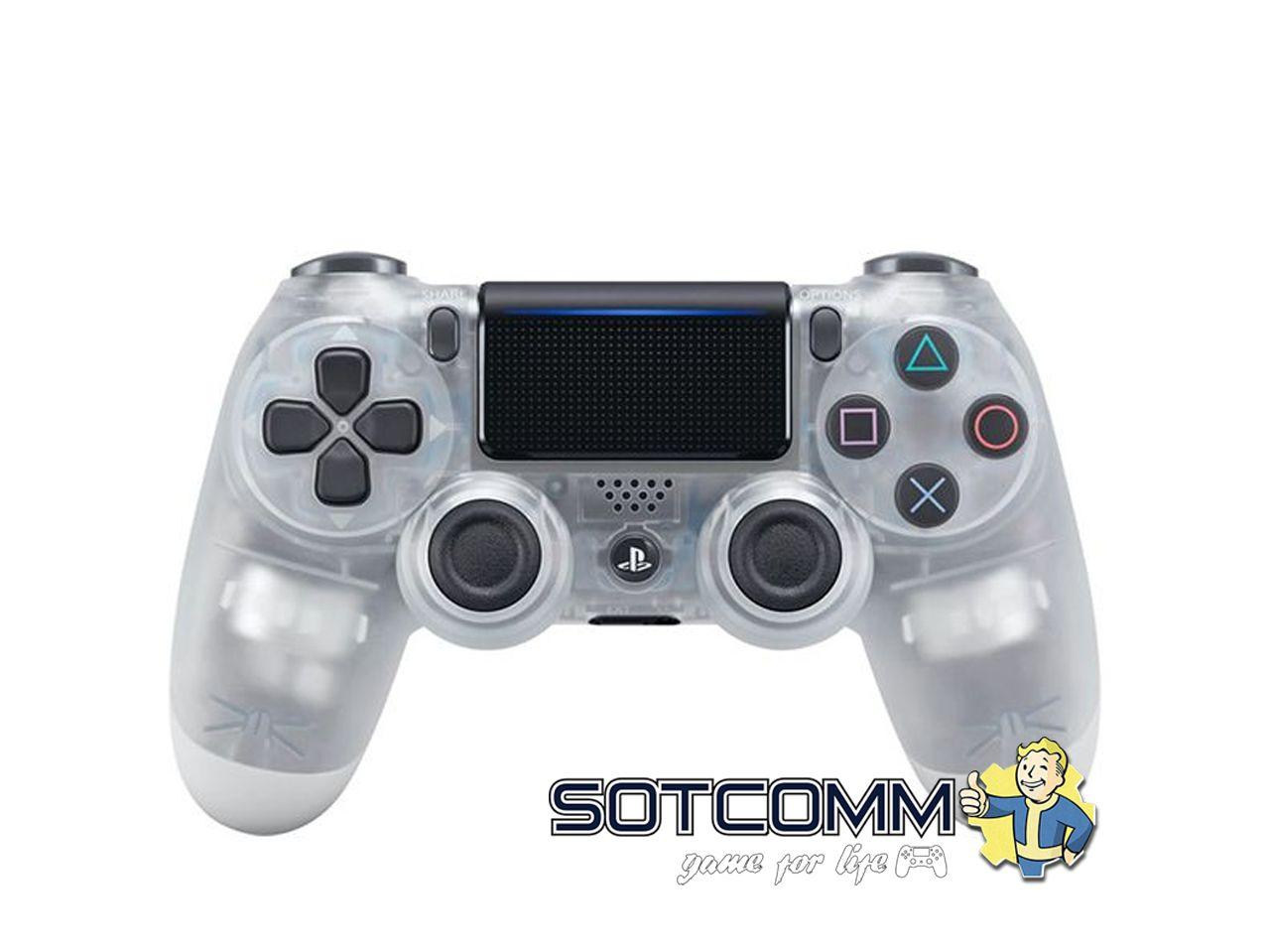 Геймпад для PS4 DS4 V2 Replica (Прозрачный-белый)