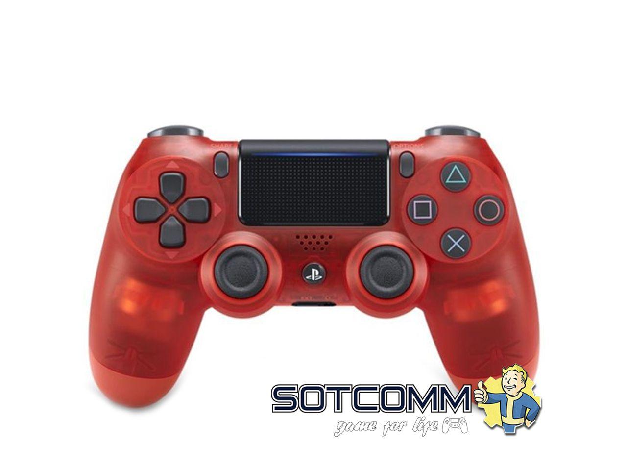Геймпад для PS4 DS4 V2 Replica (Прозрачный-красный)