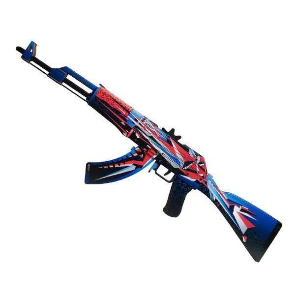 Деревянный автомат CS:GO | AK 47 Буйство красок