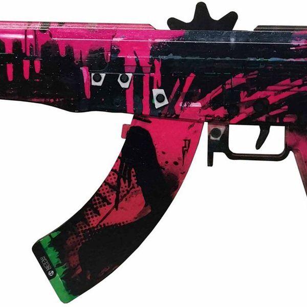 Деревянный автомат CS:GO | AK 47 Неоновая революция