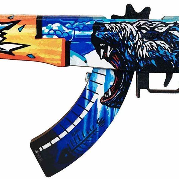 Деревянный автомат CS:GO   AK 47 Polar bear