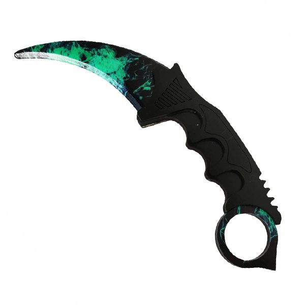 Деревянный нож керамбит CS:GO Волны изумруда