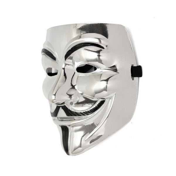 Маска Анонимуса Хром