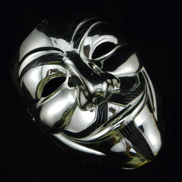 Маска Анонимуса хромированная