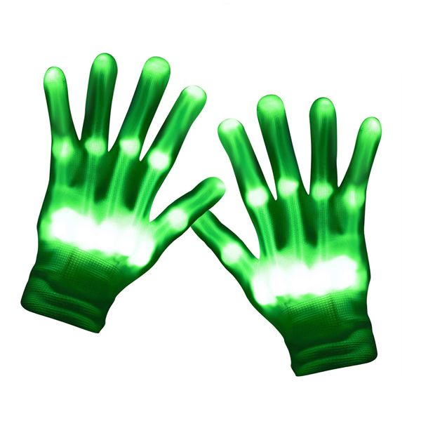 Светодиодные LED перчатки Skeleton
