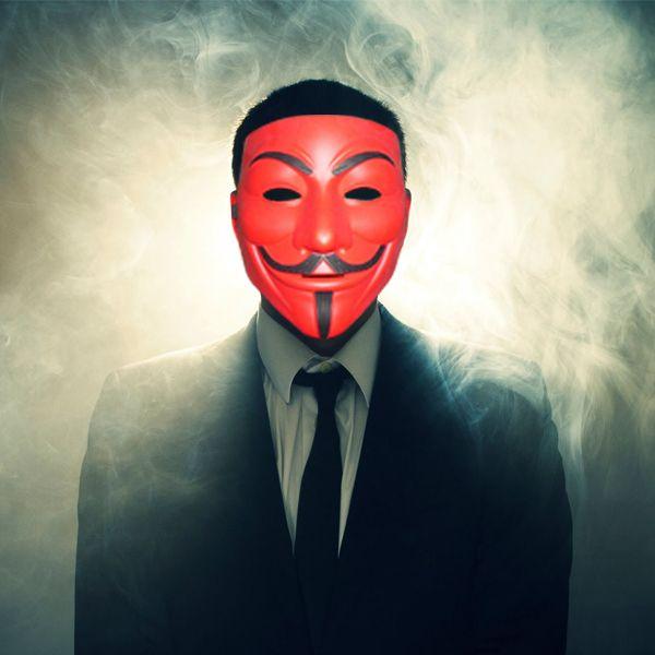 Маска Анонимуса (Красный)
