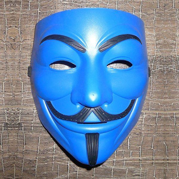Маска Анонимуса (Синяя)
