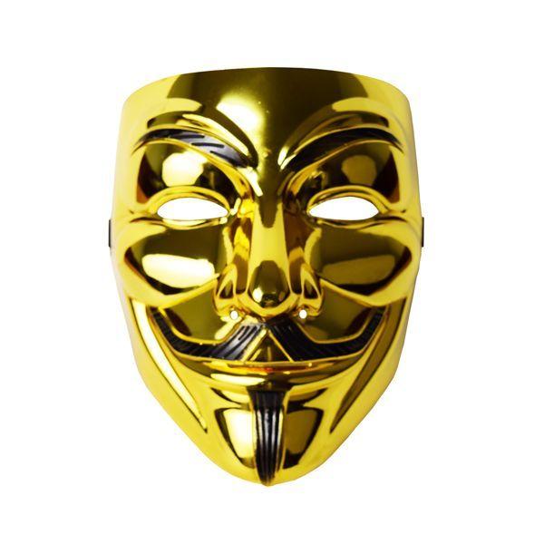 Маска Анонимуса (Золотая)